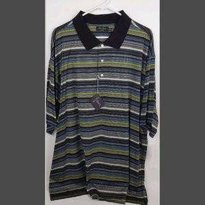 Alan Flusser Shirts - Alan Flusser Golf Shirt Short Sleeve Size 2XL